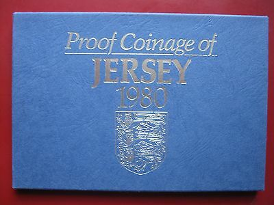 Jersey 1980 6 coin set collection Proof by Royal Mint 1/2 - 50 Pence cased