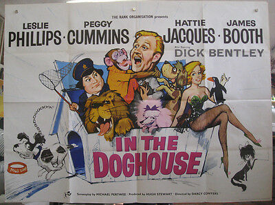 In The Doghouse 1962 British Quad Movie Poster Leslie Philips Hattie Jacques