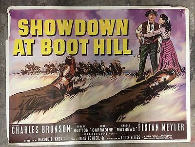 Showdown At Boot Hill 1958 British Quad Movie Poster WESTERN