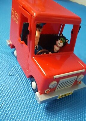 Postman Pat And Jess The Cat Figures With Royal Mail Friction Van