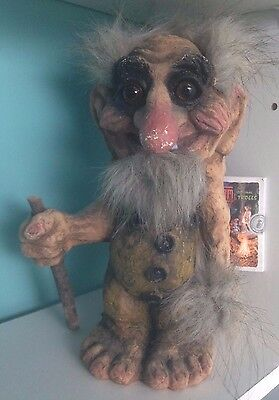 """NyForm Norwegian Norway Troll  With Tag. 10"""" Tall."""
