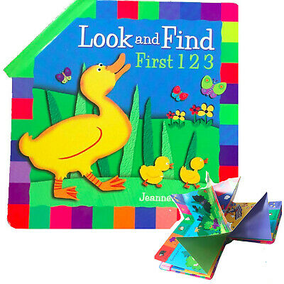 Board Book Look & Find Kids Early Learning Education Babys Colourful Pictures
