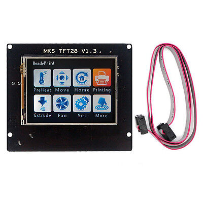 "AU 2.8"" MKS TFT28 Touch Screen LCD Controller for 3D Printer Kit MKS Base Gen"