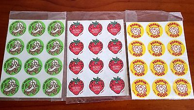 Vintage Scratch n Sniff Stickers   TREND   1980s   3 sheets of 12 Stickers