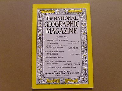National Geographic Magazine - August 1952 - See Images For Contents