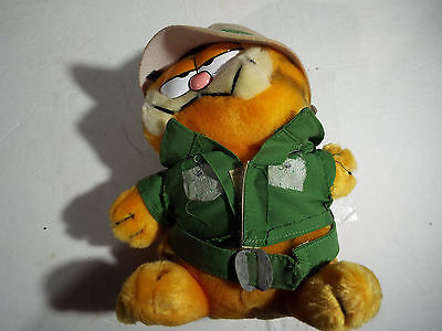 Rare! Dakin nwt Garfield plush #118 on safari 9""