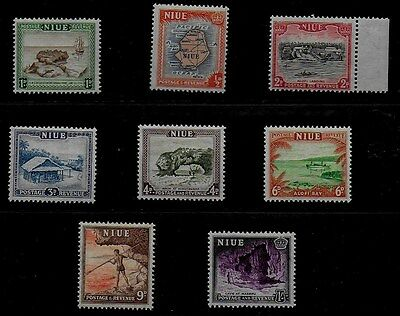 Niue 1950 KGVI Pictorials - SS with values to 1/-  -  MH