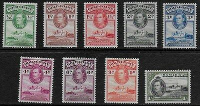 Gold Coast 1938 KGVI Definitives - Short Set with values to 1/- - MH
