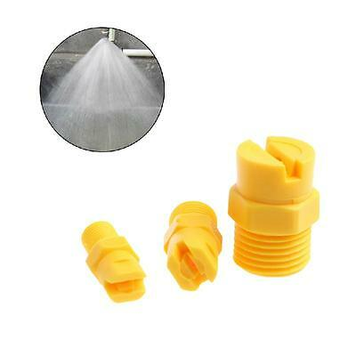 "Vee Jet Flat Fan Spray Nozzle Plastic 1/8"" 1/4"" 1/2"" Industrial Cleaning Washing"