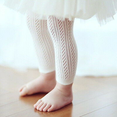 Baby Girl's White Footless Stockings/Tights - 0-4 Years