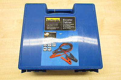 NEW HALFORDS 3.5m Heavy Duty Booster Battery Jumper Cable Leads (easy start)