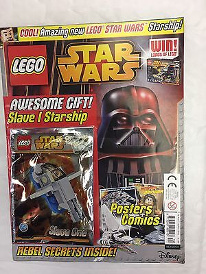 Lego Star Wars Magazine Issue 2 Sept 2015 Free Lego Slave I Starship Jango Fett