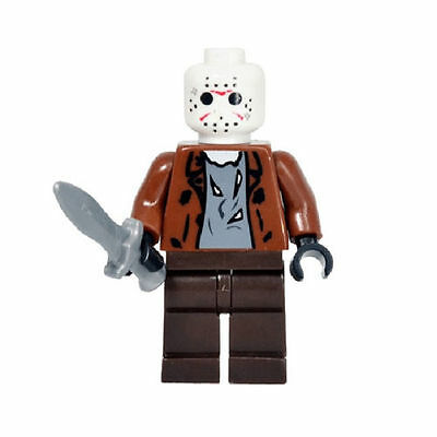 Iconic Film Horror Friday the 13th  Jason Voorhees Custom Minifigure Fit Lego