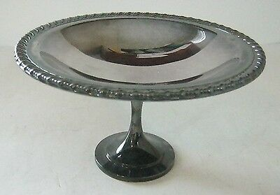 Oneida Silversmiths Footed Pedestal Silverplate Bowl