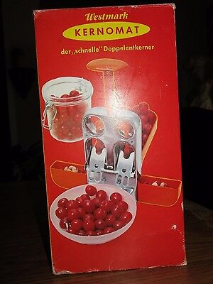 Westmark Kernomat Dual Cherry Stone Remover Pitter Deseeder Western Germany