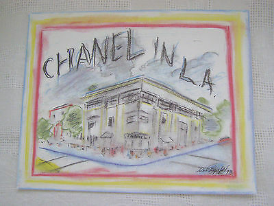 "Chanel Large  Karl Lagerfeld Presentation Illustration - ""Chanel In L.a.,1993"""