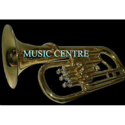 Baritone Horn Made Of Pure Brass With Case Box & Mouthpc & Free Shipping