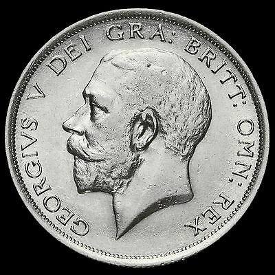 1919 George V Silver Half Crown, Scarce, GVF
