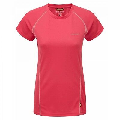 CRAGHOPPERS Womens Vitalise SPORTS WICKING BASE LAYER T-shirt Pink **RRP £18**