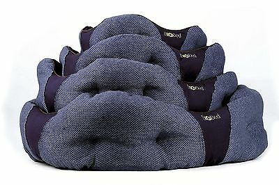 Beco Dog Bed - Hemp Cotton Hypoallergenic Washable Eco Donut Pet Cat Bed - Blue