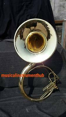 """Sousaphone Bell 22"""" Of Pure Brass In Brass Gold + Case+ Mouthpc + Free Shipping"""