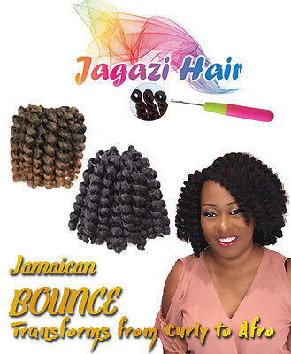 UK: 20 Roots Jamaican Bounce Curl Wand, Jumpy Curly CROCHET Hair