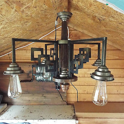 1930's FRENCH ELECTROLIER LAMP.