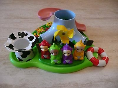 Rare Teletubbies Floating Bath Island Toy Dipsy Tinky Winky Laa Laa Po Figures
