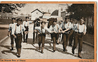"""""""1919, The Marines, Busy at Ostend"""" Photograph by Photochrom, Postcard"""