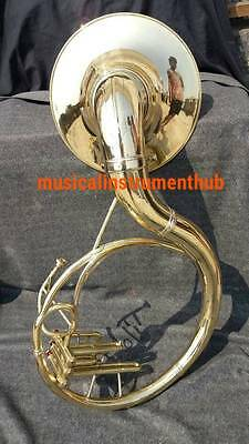 Sousaphone 22 Inch Bell In Gold Polish Made Of Pure Brass +Case + Free Shipping