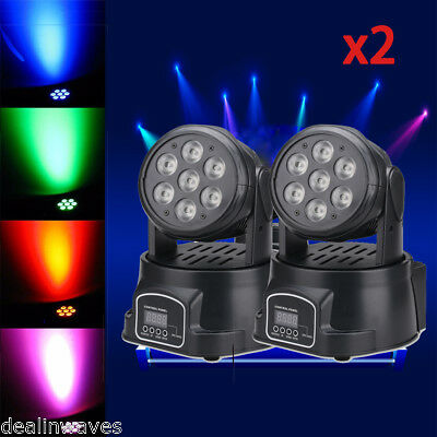 2pc RGBW DMX 40W Cree 8LED Spider Moving Head Stage Beam Light  DJ Party Disco
