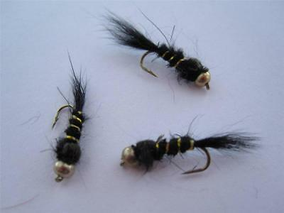 SIZES AVAILABLE 1 DZ D-3 BEAD HEAD HARES EAR/'S COPPER NYMPHS TROUT DRY FLIES