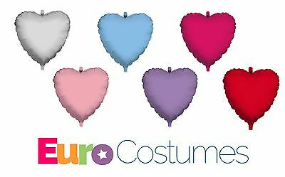 """Helium Foil Heart Shaped Balloons 18, 24 & 36"""" Party Wedding Decoration Love"""