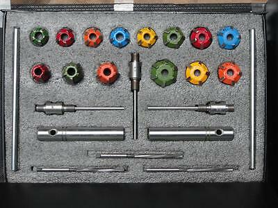 Motorcycles,atv Heads Valve Seat Cutter Set Carbide Tipped + Reams +Guide Stems
