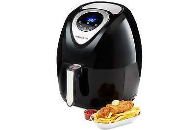 Andrew James Digital Air Fryer, 3.2 Litre, Low Fat Oil Free Healthy Fryer Cooker