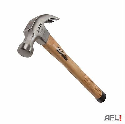 Bahco 427-16 Hickory Shaft Steel Smooth Face Curved Claw Hammer 450g (16oz)