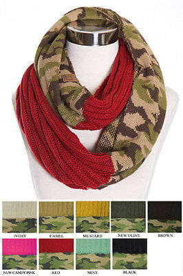 ScarvesMe CC Hot and New Cable Knit Warm Winter Camo Camouflage Infinity Loop Ci