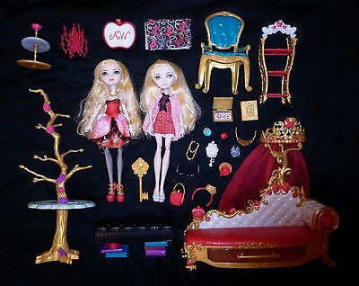 Apple White bundle Ever After High doll Getting Fairest couch bag accessories
