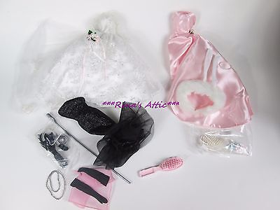 Lot Reproduction Barbie Gowns ~ Solo in Spotlight Enchanted Evening Wedding Day
