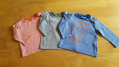 F&F Baby Boy Clothes 3 Piece Co-ordinating Top / T-Shirt Set Age 0-3m CLEARANCE
