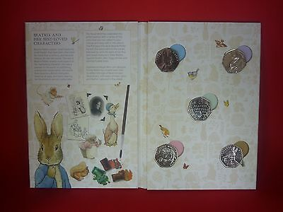 Beatrix Potter 50p coin album with full set of coins !