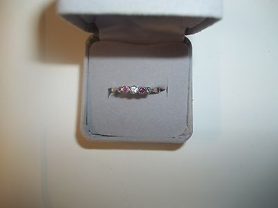 Antique Art Deco 9Ct Gold Ruby And Spinel Ring  Size L