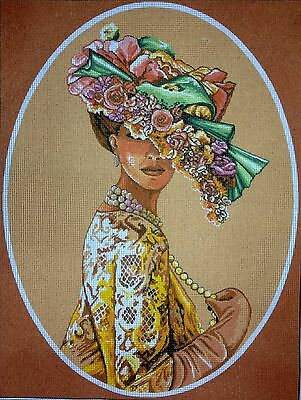 "Gobelin Tapestry Needlepoint Kit ""Lady"" 30x40  (11.8""x15.7"") printed canvas 074"
