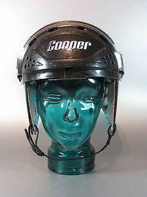 "Vintage Cooper XL7 Black original Helmet Hockey senior Size : 6 3/4"" - 7 3/8"""