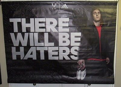 Lionel Messi Barcelona Adidas There Will Be Haters Used 47X36 Display Sign