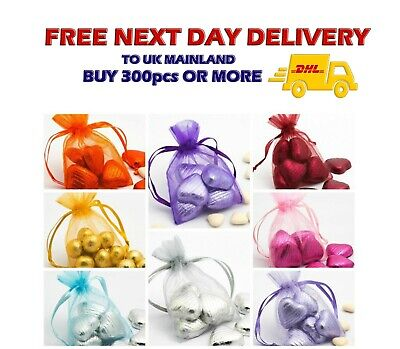 MEDIUM ORGANZA Gift BAGS 9x12cm Wedding Favours Party Jewellery Packing Pouches