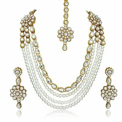 Indian Bollywood Style Fashion Wedding Gold plated Bridal Necklace Jewelry Set