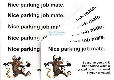 Novelty Parking Cards #2 leave them on Cars and Motorbikes - 20