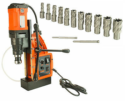 """Cayken SCY-42HD 1.65"""" Magnetic Drill Press with 13PC 1"""" Annular Cutter Kit"""