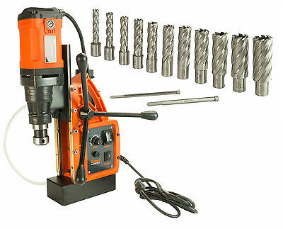 """Cayken SCY-42HD 1.65"""" Magnetic Drill Press with 13PC 2"""" Annular Cutter Kit"""